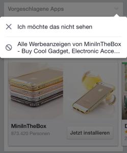 Facebook Werbeanzeige mobil blockieren