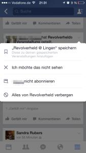 Facebook Veranstaltung mobil blockieren