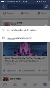 Facebook App mobil blockieren