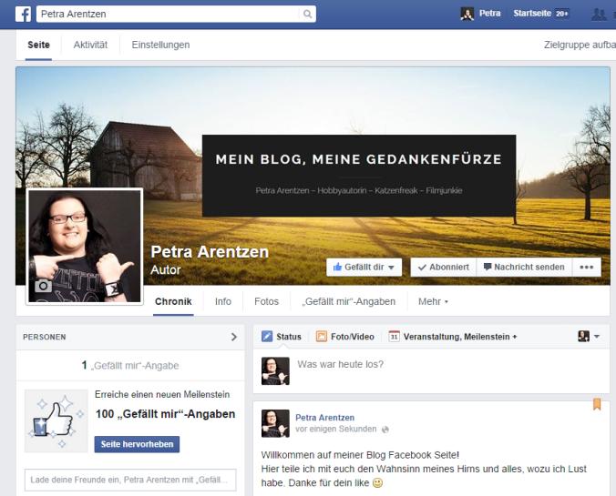 Facebook Blog Seite