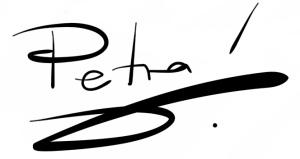 Unterschrift Petra auf weiß