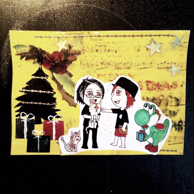 Weihnachtskarte Chaoswichteln Hotaru
